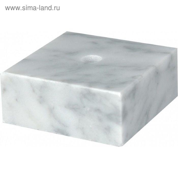 Цоколь мраморный, белый 75х75х20 WM7520