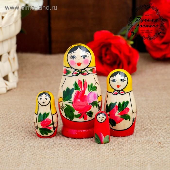 Матрешка Семеновская 4 кукольная  люкс