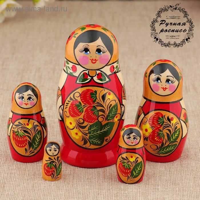 """Матрешка """"Клубничка"""", 5 кукол, высшая категория"""