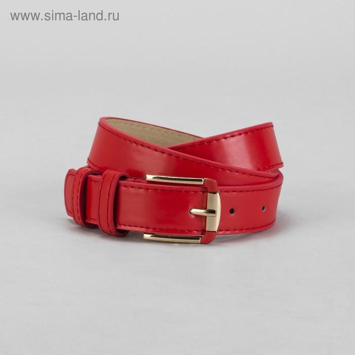 Ремень женский, винт, пряжка под металл, ширина - 3см, красный