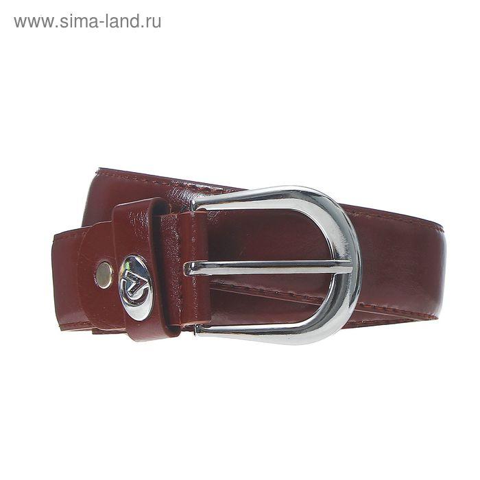 Ремень женский, винт, пряжка под металл, ширина - 3,5см, коричневый