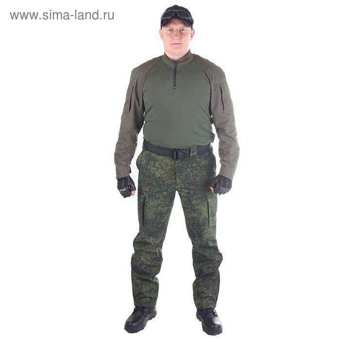 Брюки МПА-28 (тк.Софтшелл) КМФ зеленая цифра 58/4