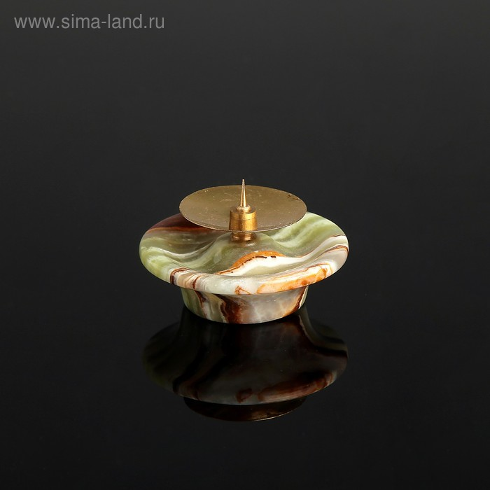 Подсвечник «Чаша», с иглой, 6,3х6,3 см, оникс