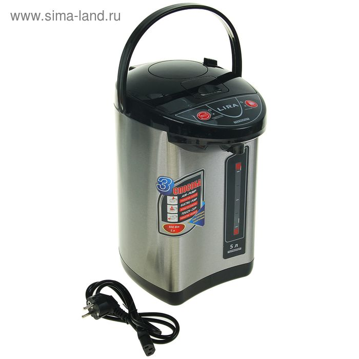 Термопот электрический LIRA LR 0402   5л.,  800Вт.
