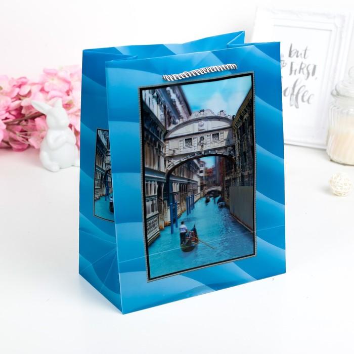 """Пакет пластиковый, 3D рисунок """"Венеция"""""""