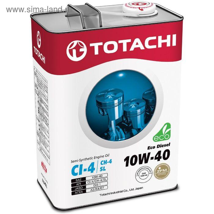 Моторное масло Totachi Eco Diesel Semi-Synthetic CI-4/CH-4/SL 10W-40, 4 л
