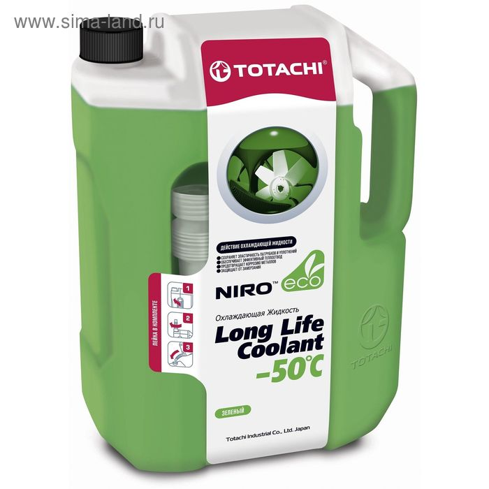Жидкость охлаждающая Totachi NIRO LLC GREEN -50 C, 10 л