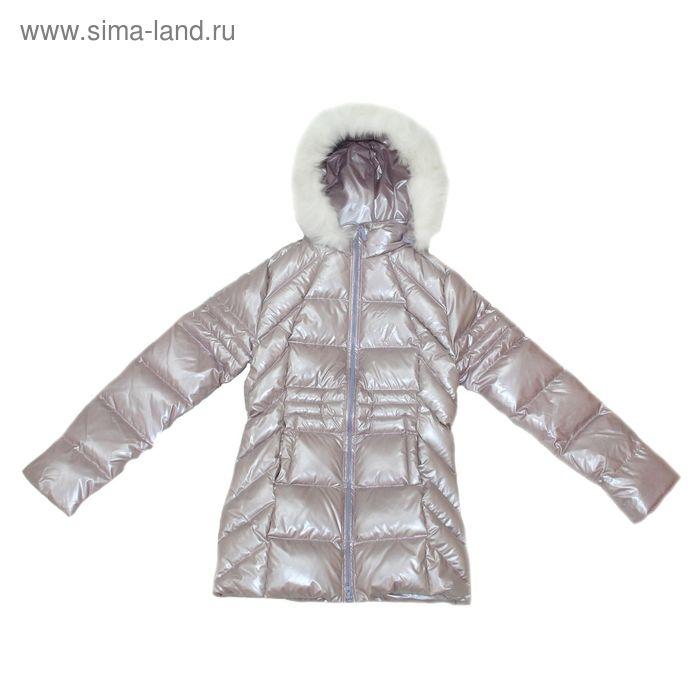 """Куртка для девочки """"Люпин"""", рост 158 см (76), цвет черничное мороженое 21-041/1"""