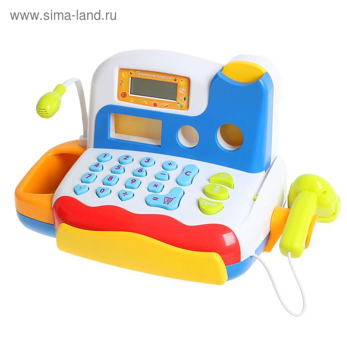 """Касса-калькулятор """"Любимые покупки-2"""", свет, звук в пакете"""