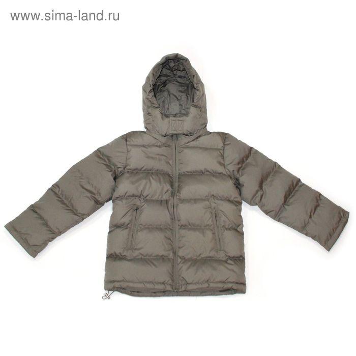 """Куртка для мальчика """"Андрейка"""", рост 146 см (72), цвет хаки КПМ 013/1"""
