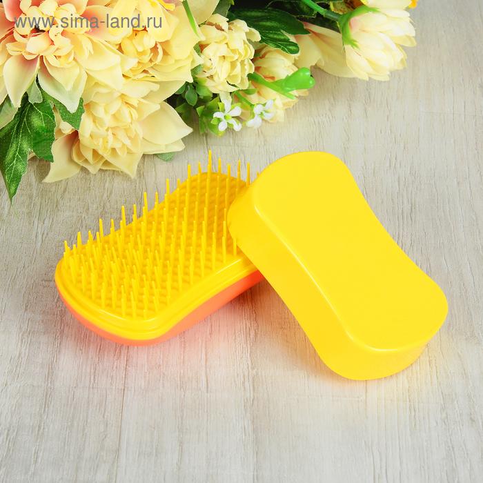 Щётка для распутывания волос, цвет оранжевый/жёлтый