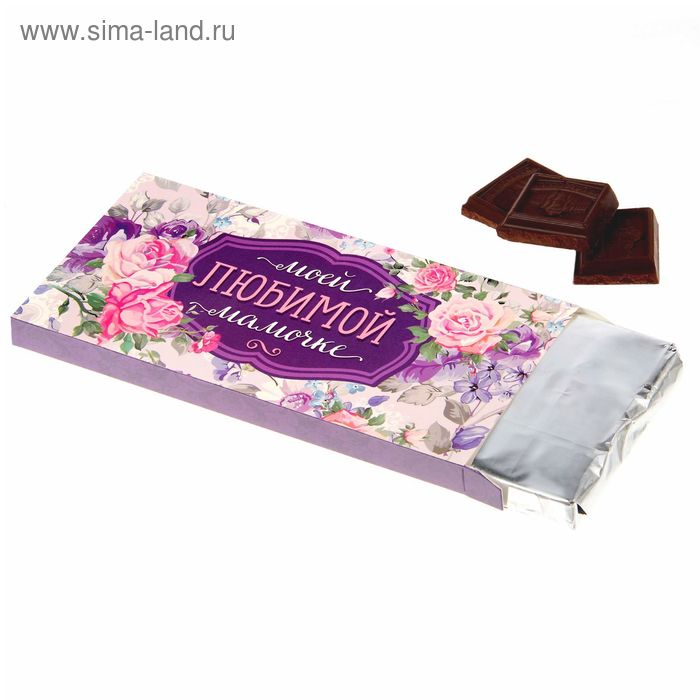 "Коробка для шоколада ""Любимой мамочке"", 7,7 х 16 см"