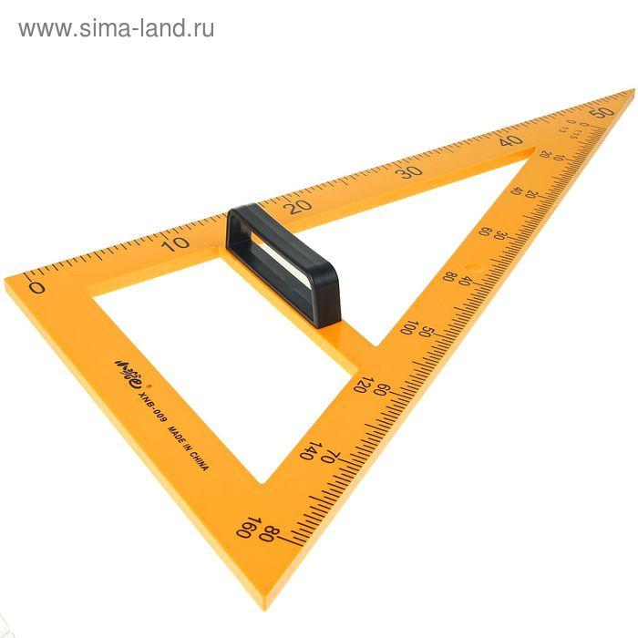Треугольник для школьной доски с держателем прямоугольный 30градусов