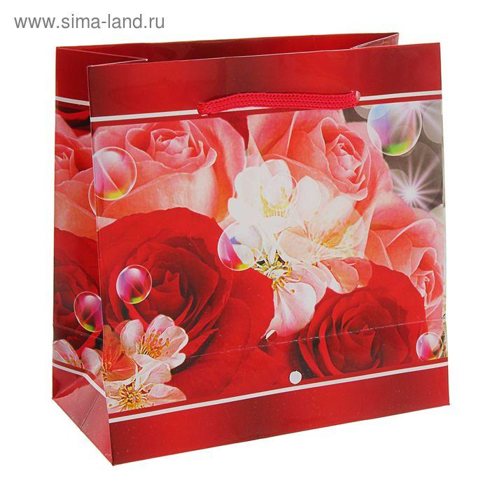 """Пакет подарочный """"Драгоценный подарок"""" 16 х 16 х 7,6 см"""