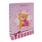 """Пакет подарочный """"Пушистик"""" розовый 24,8 х 9 х 40,5 см"""