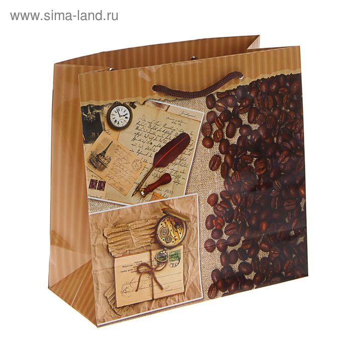 """Пакет подарочный """"Кофейный дом"""" 23 х 22,5 х 10 см"""