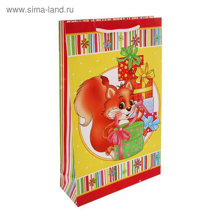 """Пакет подарочный """"Сюрприз"""" 23 х 22,5 х 10 см"""