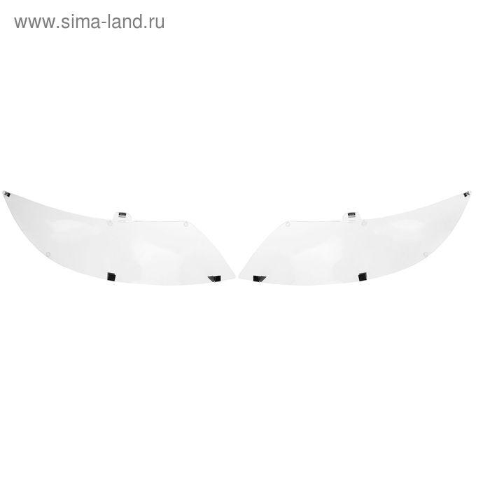 Защита фар Kia Rio хечбек, Classic, прозрачная