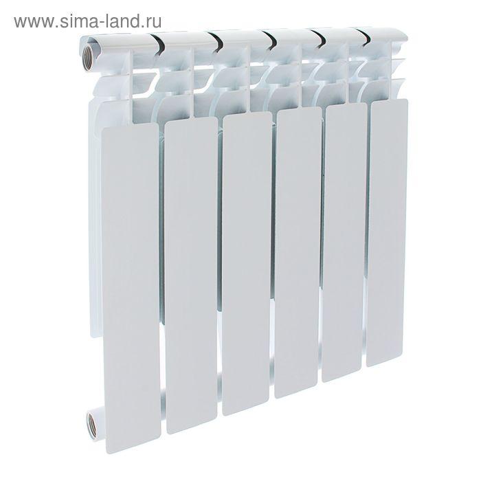 Радиатор Оазис, биметаллический, 500/80, 6 секций