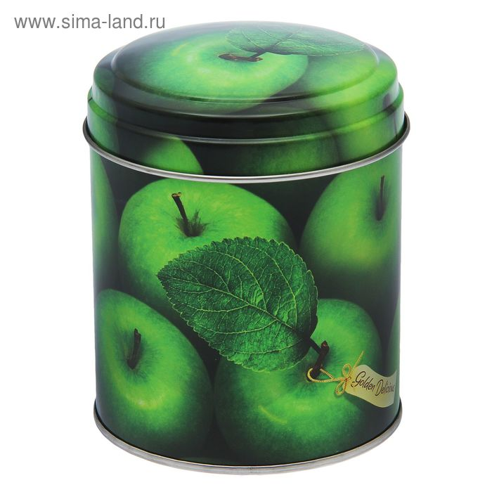 """Банка для сыпучих продуктов 800 мл """"Яблоки зеленые"""" круглая, d=9,9 см, h=11 см"""