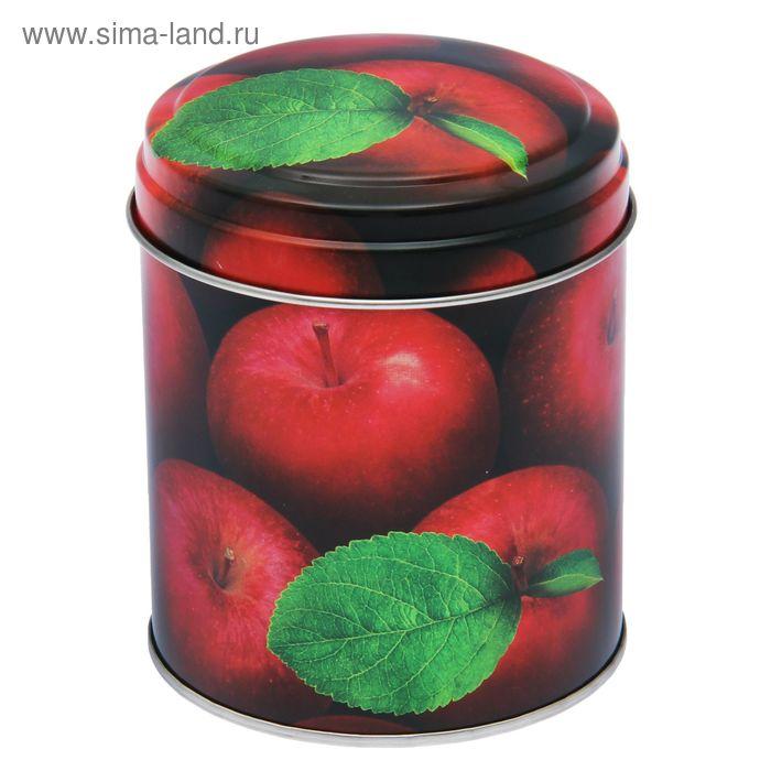 """Банка для сыпучих продуктов 800 мл """"Яблоки красные""""круглая, d=9,9 см, h=11 см"""