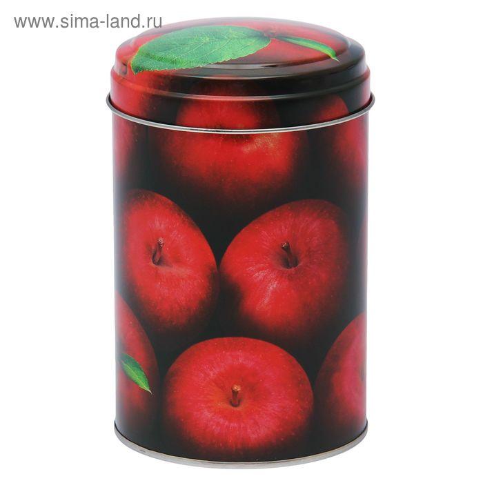 """Банка для сыпучих продуктов 1,1 л """"Яблоки красные"""" круглая, d=9,9 см, h=14,5 см"""