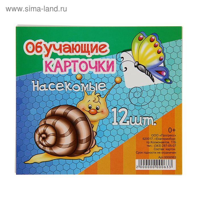 """Обучающие карточки """"Насекомые"""" 12шт"""