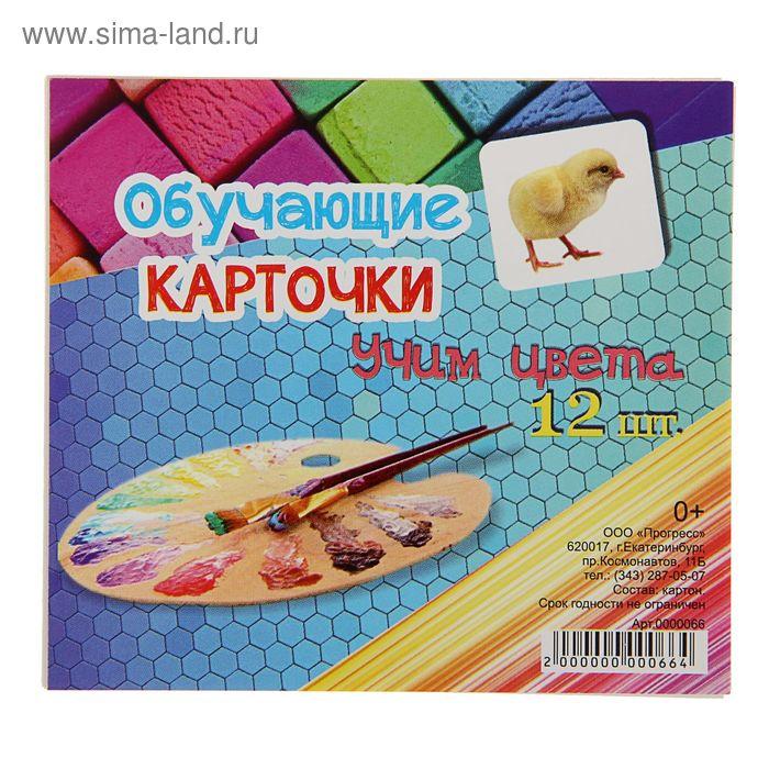 """Обучающие карточки """"Учим цвета"""" 12шт"""