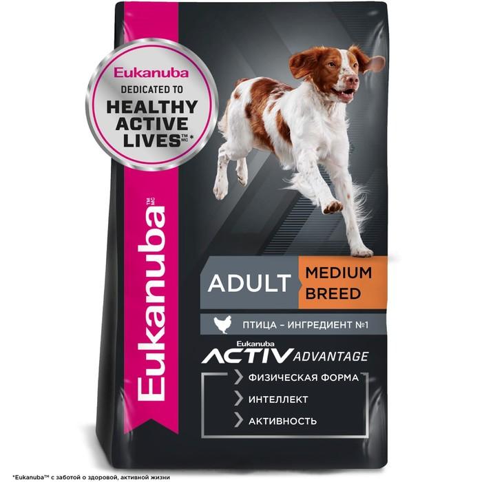 Сухой корм EUK Dog для взрослых собак средних пород, 15 кг