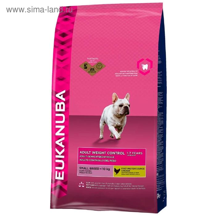 Сухой корм EUK Dog для взрослых собак средних пород с низкой активностью,  3 кг