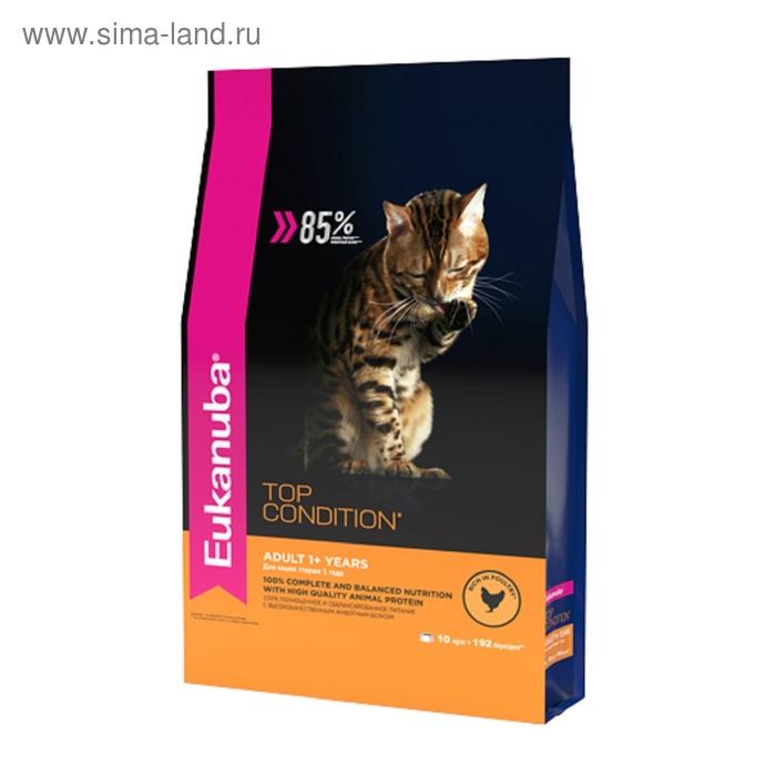 Сухой корм EUK Cat для взрослых кошек, с домашней птицей, 10 кг