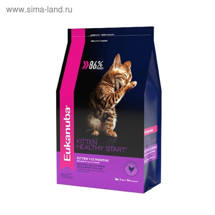 Сухой корм EUK Cat для котят, с домашней птицей, 2 кг