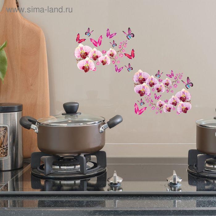 """Наклейки декоративные на плитку """"Цветущая орхидея"""", 40 х 64 см"""