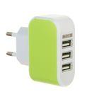 Универсальный зарядник 220в 3 USB, 3,1 А МИКС