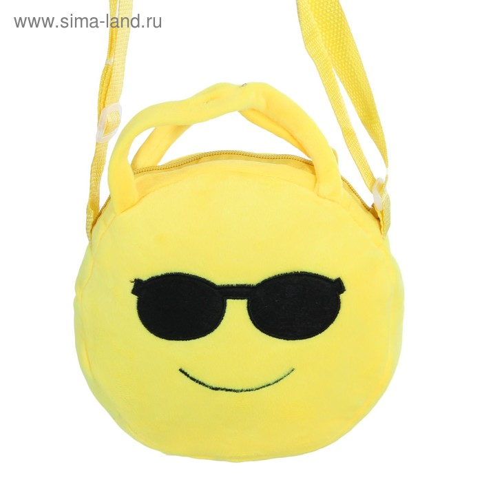 "Мягкая сумочка ""Смайл"" в очках"