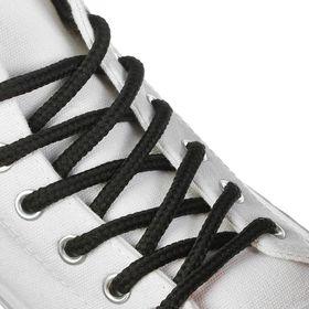 Шнурки для обуви круглые, ширина 6мм, 120см, цвет чёрный