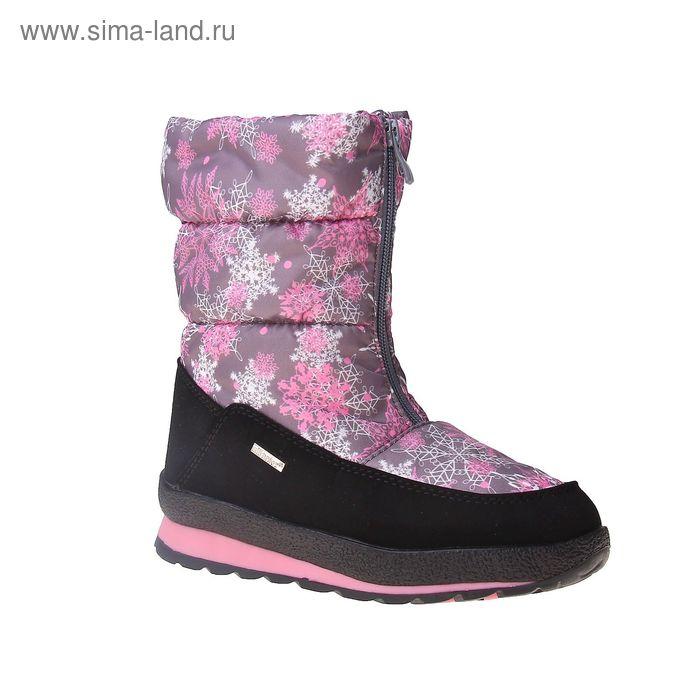 Сапоги для девочек SC-26818 (серый/розовый) (р. 36)