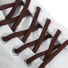 Шнурки для обуви круглые, ширина 5мм, 160см, цвет коричневый