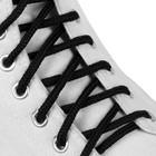 Шнурки для обуви круглые, ширина 3мм, 120см, цвет чёрный