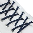 Шнурки для обуви круглые, ширина 3мм, 180см, цвет синий