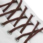 Шнурки для обуви круглые, ширина 3мм, 120см, цвет коричневый