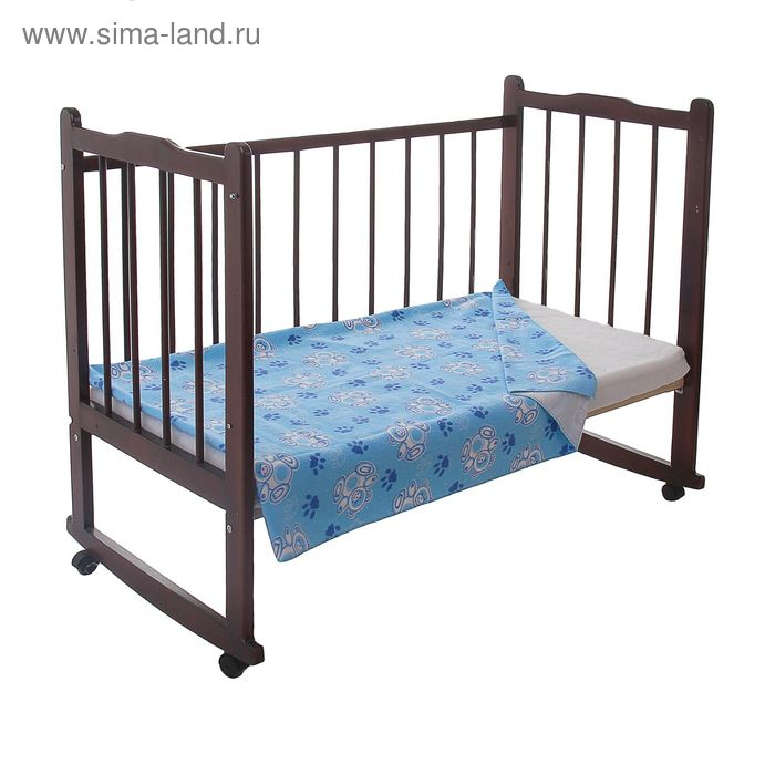 Одеяло детское байковое, размер 100х140 см, цвет голубой 23200