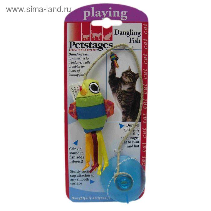 """Игрушка Petstages """"Рыбка"""" для кошек,  на присоске"""