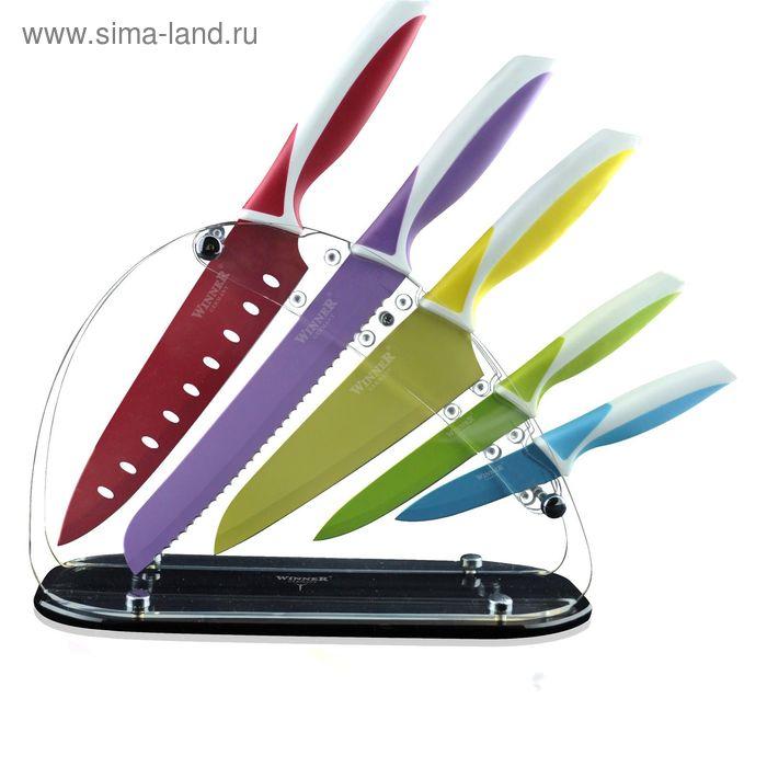 """Набор ножей, 6 пр: поварской 32 см, д/хлеба 32 см, """"сантоку"""" 30 см, универсальный 23 см , д/очистки"""