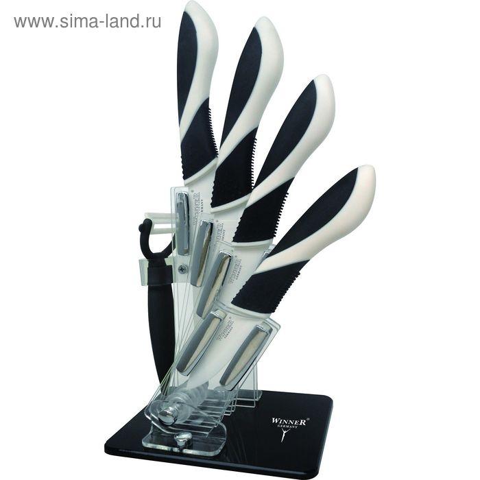 Набор керамических ножей, 6 пр: поварской 28см, нож универсальный 23см, нож универсальный 20см, нож