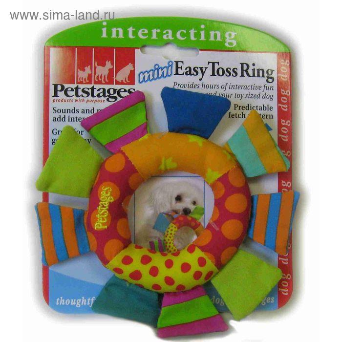 """Игрушка Petstages Mini """"Кольцо текстильное""""  для собак"""