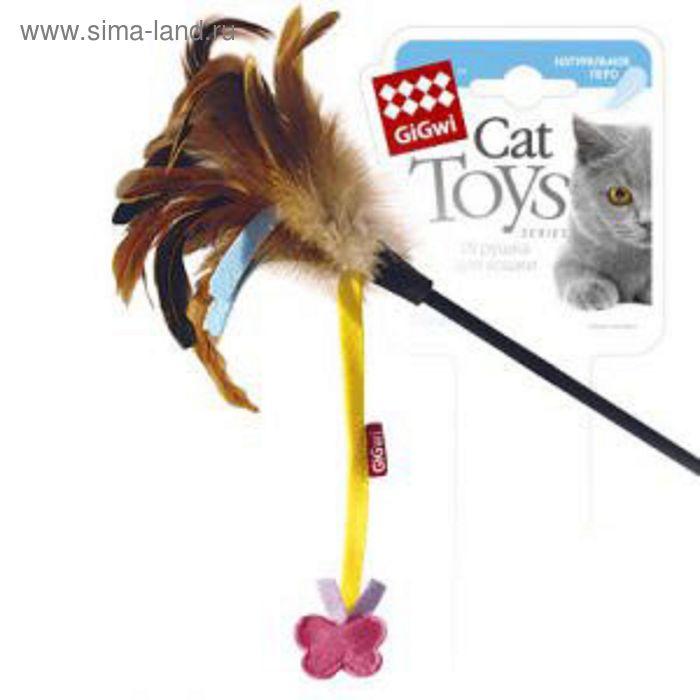 Дразнилка GiGwi для кошек,  с бабочкой