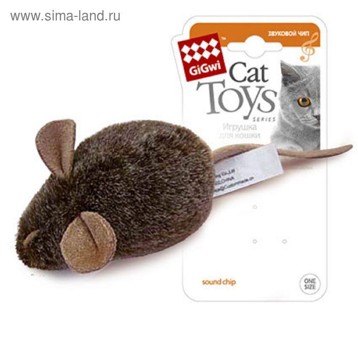"""Игрушка GiGwi """"Мышка с музыкальным механизмом""""  для кошек"""