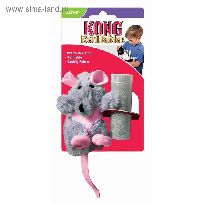 """Игрушка Kong  """"Крыса"""" для кошек , плюш с тубом кошачьей мяты"""
