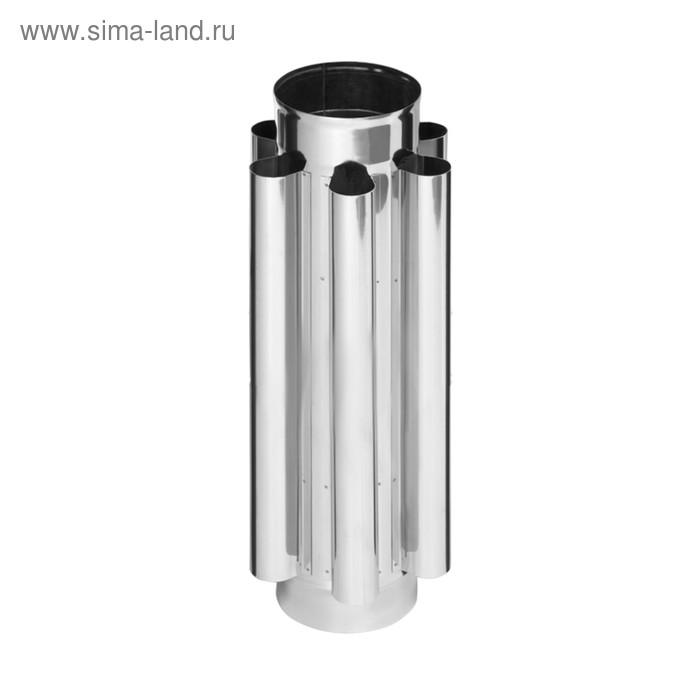 Дымоход-конвектор Феррум нержавеющий 430/0,8 мм, d 150, L=0,5 м
